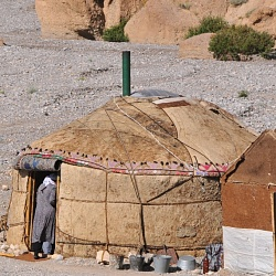 a traditional yurt